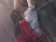 Incredible pornstars Sanya Ramone and Gili Sky in fabulous lingerie, lesbian adult scene