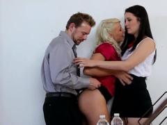 Fabulous pornstar in Horny Blowjob, Threesomes porn scene