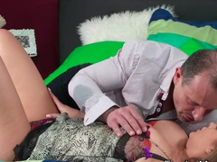 Brown haired busty mom banged in bedroom