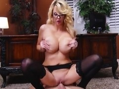 Sweet secretary Courtney Taylor fucking in the office