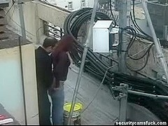 Spy Webcam Catch Fucking On Roof Top