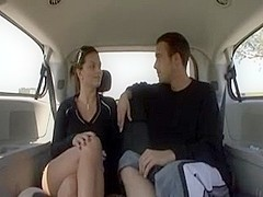 Sexy soccer MILF fucks in van during son's practice