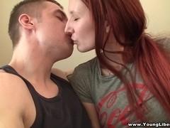 Pierced redhead loves to fuck