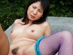 Exotic Japanese chick Emiri Takeuchi in Horny JAV uncensored Stockings clip