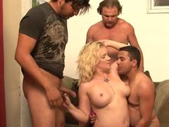 Horny pornstar Heidi Mayne in hottest gangbang, facial porn scene
