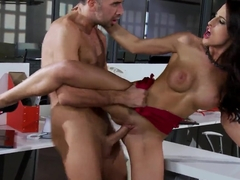 Hot brunette Kortney Kay and Keiran Lee are fuckin' wildly