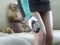 Beauty caught masturbating on a spy cam