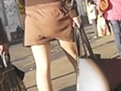 Palatable upskirt gazoo and depraved heels