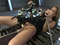 Fabulous fetish, milf xxx video with crazy pornstar Kayla Carrera from Fuckingmachines