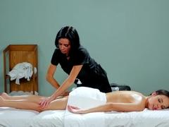 Amazing pornstars Aaliyah Love, Veronica Avluv in Hottest Massage, Lesbian adult clip