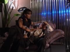 Best pornstar Michelle Banks in incredible black and ebony, interracial sex scene