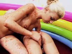 Fabulous pornstars Cristien Love and Louise Davis in hottest masturbation, fetish porn clip