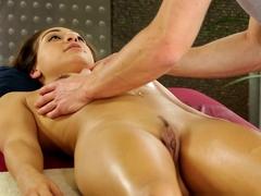 Horny pornstars Sara Luvv, Ryan McLane in Exotic Massage, Latina adult video