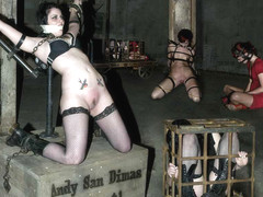 Andy San Dimas & AnnaBelle Lee & Claire Adams in Andy San Dimas Live, Part 1 - DeviceBondage