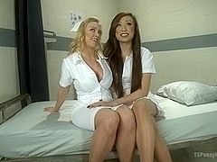 TS Venus Makes Darling say Awe with Her Cock in this Medical Role Play