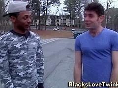 Hunk ass rides black cock
