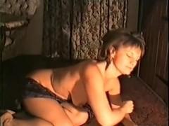 Kinky teasing on the floor at home