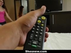 ShesNew - Playfull Brunette Makes Porn Debut