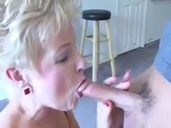 Hot Granny Cougar Pool Table Bang
