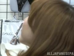 Yui Akane arousing Asian milf enjoys a hard pussy banging