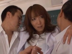 Shiho Asian teacher is nasty and gets gangbanged
