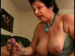 XXX action with a mature whore with big bouncy tits