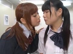 Sayaka Otonashi, Rumi lovely Asian schoolgirls are lesbians