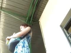 Real redhead milf upskirt voyeur video