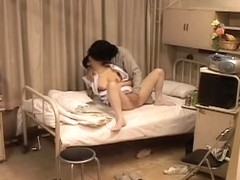 Busty kinky nurse rides for cum in Japanese sex video