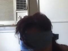 Amateur Asian MILF blindfold POV blowjob