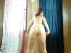 Dancing around with her ass