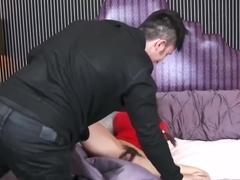 Caroline gets horny at home