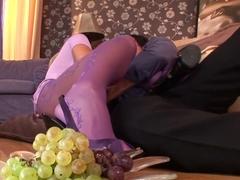 Crazy pornstar Cathy Heaven in horny swallow, foot fetish porn clip
