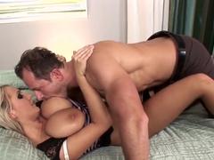 Exotic pornstar Wendy Wonders in incredible blonde, facial sex video