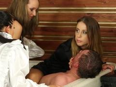 Incredible pornstars Leyla Black, Nia Black and Melanie Masters in exotic big tits, group sex xxx .