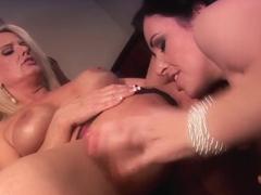 Fabulous pornstars Bridgette Lee and Anastasia Pierce in horny lesbian, mature xxx scene