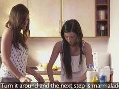 Hottest pornstars Sofia Solana, Tess in Incredible Lesbian, Romantic sex clip