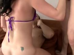 Horny pornstar Leilani Leeanne in crazy dp, cunnilingus porn video