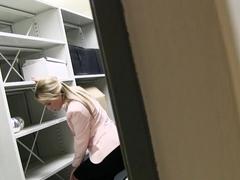 Czech Blonde Cristal Caitlin Fucks in Office
