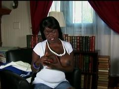 Crazy pornstar in Hottest Black and Ebony, BBW sex movie