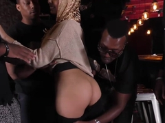 Interracial Gangbang With Anal Slut Aaliyah Hadid