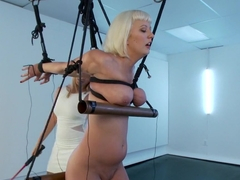 Cherry Torn in Painful Electric Copper Pipe Predicament!