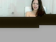 Cute girl masaturbates on web cam show