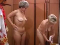 Russian moms Irina - Valia in the sauna