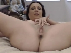 Webcam whore fucks her ass and cunt with a sex toy
