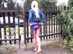 Sexy blonde Debbies public flashing and outdoor babes masturbation in parks for voyeur watchers an.