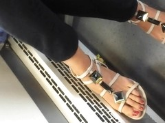 NICE FEET IN TRAIN