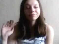 Hawt girl flashing her  brassiere buddies pt 1
