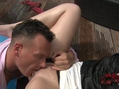 Fabulous pornstar in exotic lingerie, mature sex movie