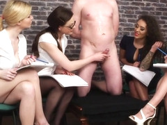 Lovely Cfnm Babes Surprised By Quick Cumshot